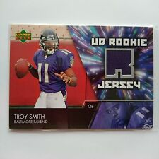 2007 Upper Deck Rookie Jersey Troy Smith Baltimore Ravens Ohio State - Blue