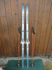 "Ready to Use Cross Country 65"" KARHU  170 cm Skis WAXLESS Base +  Poles"