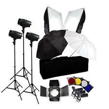 Flash Kit 540w Photography Studio Strobe Light Umbrella Softbox