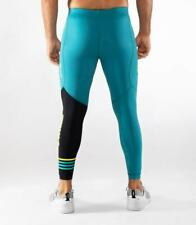 Virus Mens RX8 Stay Cool Compression Pants Bay Blue/Black,Crossfit Open,Gym