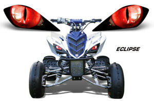 Headlight Eye Graphic Decal for Yamaha Raptor 700/350/250 YFZ450 Eclipse Red