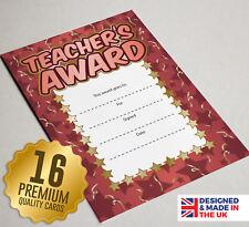 16 Teachers Award Certificates - Kids Teaching Resources / Rewards
