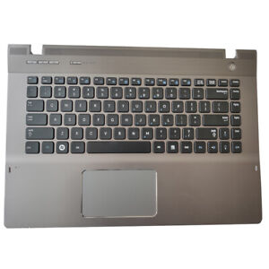 New US keyboard For Samsung NP-QX410 QX411 With Frame Palmrest Cover Touchpad