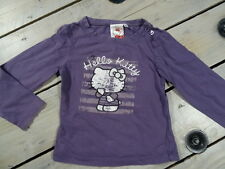 T-shirt manches longues violet col rond imprimé Hello Kitty vintage Taille 4 ans
