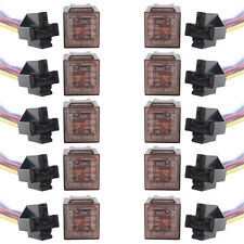 Lot10 Car Auto 12V-C 12V 60A 60AMP Transparent SPDT Relay & Socket 5Pin 5 Wire