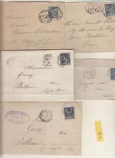 Lettres & courriers &CPA ,affranchissements marques postales à étudier  lot 121A