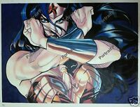 Wonder Woman DC Comic Art Oil Painting Hand-Painted Canvas NOT a Print 24x32