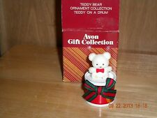 Avon Gift Collection-Teddy Bear Ornament Collection--Teddy on a Drum