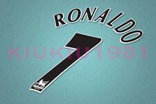 Manchester United Ronaldo #7 PREMIER LEAGUE 97-06 Black Name/Number Set
