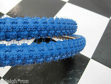 """2 Blue SKIN WALL 20 x 2.125"""" CHENG Bicycle TIRES for Old School Mongoose BMX Bik"""