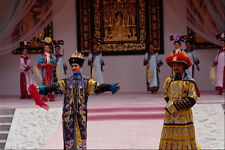 607088 Dancers In Royal Costume Middle Kingdom Hong Kong A4 Photo Print