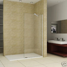 1200x700mm Shower Enclosure Walk In Wet Room Screen 8mm Glass Panel Stone Tray M