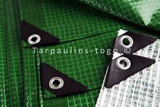 Waterproof Tarpaulin Medium Heavy Weight 170gsm Ground Sheet Green Clear Tarps
