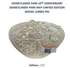 DISNEYLAND PARK 65th ANNIVERSARY PARK MAP LIMITED EDITION BOXED JUMBO PIN!