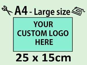 Custom Iron on Transfer Logo for T-SHIRTS POLOS SHORTS APRONS Personalised DIY