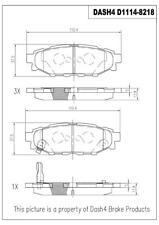 Disc Brake Pad Set Rear Dash 4 Brake CD1114
