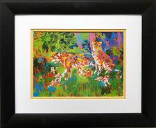 """LeRoy Neiman """"Jaguar Family"""" New CUSTOM FRAMED  Print Animal Africa Cat"""