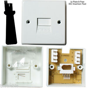 BT Extension Telephone Wall Socket IDC Terminal Slave Secondary Outlet Plate