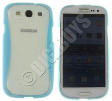 Étuis, housses et coques bleu transparent en silicone, caoutchouc, gel pour téléphone mobile et assistant personnel (PDA)