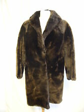 """Ladies Coat Bailey's brown, thick beaver fur, bust 38-40"""", length 36"""", vgc  2555"""