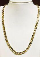 "18k Solid Yellow Gold Handmade Mariner link men's Necklace 22"" 6.5 MM 55 grams"
