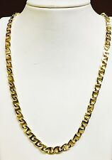 "18k Solid Yellow Gold Handmade Mariner link men's Necklace 24"" 6.5 MM 60 grams"