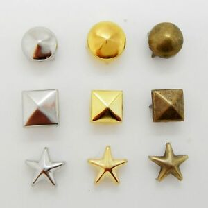 Stud Rivet Pyramid Spike Cone Star Leathercraft for Bag Shoe Belt Clothes Beads
