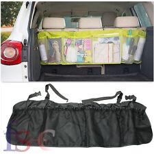 Multi Mesh Pocket Hanging Car Boot Car Seat Tidy Storage Organiser - Black