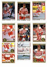 1X DETROIT RED WINGS 1991-92 OPC Premier FULL TEAM SET Lots Available O Pee Chee