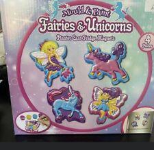 Fairies & Unicorns Plaster Cast Fridge Magnets - Make Your Own Set For Kids