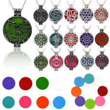 Diffuser Locket Pendant Aromatherapy Essential Oil Perfume Pendant Necklace Chai