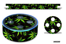 Skin Decal Wrap for the Amazon Echo Dot 2nd Gen Alexa Graphics Stickers WEEDS