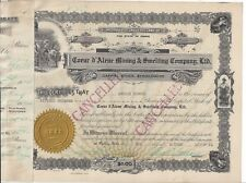 COEUR D' ALENE MINING & SMELTING COMPANY LTD......1924 STOCK CERTIFICATE