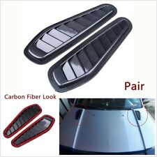 2x Car Decorative Air Flow Intake Scoop Turbo Bonnet Vent Cover Hood Car-Styling