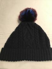 Ted Baker Navy Cable Bobble Hat