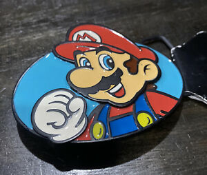 NEW~OFFICIAL Nintendo SUPER MARIO BROS BELT BUCKLE~Collectible~Discontinued~