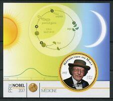 Mali 2017 MNH Nobel Prize Winners Medicine Jeffrey C. Hall 1v S/S Science Stamps