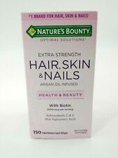 Nature's Bounty Extra Strength Hair Skin Nails w/ Biotin 150 Softgels Exp 2/2022