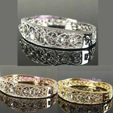 Unbranded Crystal White Gold Filled Costume Bangles