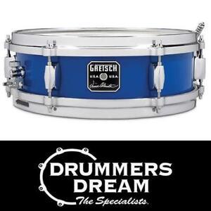 "Gretsch 12 x 4"" Vinnie Colaiuta USA Signature Snare Drum Cobalt Blue RRP$1299"