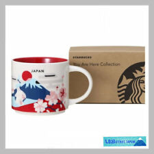 F/S Starbucks Japan Mug 14oz you are here collection fuji castle sakura daruma
