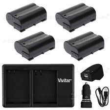 4x EN-EL15 Replacement Battery for Nikon and USB Dual Charger + AC/DC