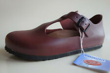 new BIRKENSTOCK Leather Mary Jane's Shoes PARIS Maroon US7-7.5 EU38 UK5 Regular