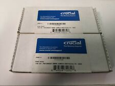 New Crucial lOT OF 2 / 1 GB UDIMM 400 MHz PC-3200 DDR SDRAM Memory (CT12864Z40B)