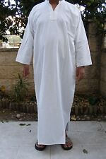 WHITE Thin Men Caftan THOBE Thoub Galabiya Jellabiya Jellaba Dishdasha XL - #144