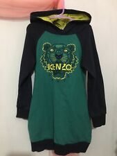 Fab Girls Designer Kenzo Navy Green Hoodie Jumper Dress 6yrs 💗💗