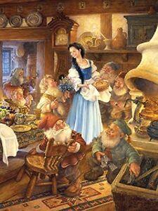 Jigsaw puzzle Entertainment Fairy Tale Book Snow White 7 Dwarves 300 piece NEW