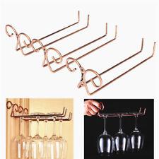 Stainless Steel Wine Glass Rack Hanger Holder Stemware Shelf Bronze Hot