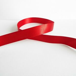 Per Metre - Red 13mm wide - Doublesided Satin Ribbon / Party Cake / Hair Bow