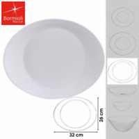 Bormioli Rocco Prometeo Oval Shaped 32x26cm steak Dinner plates UK